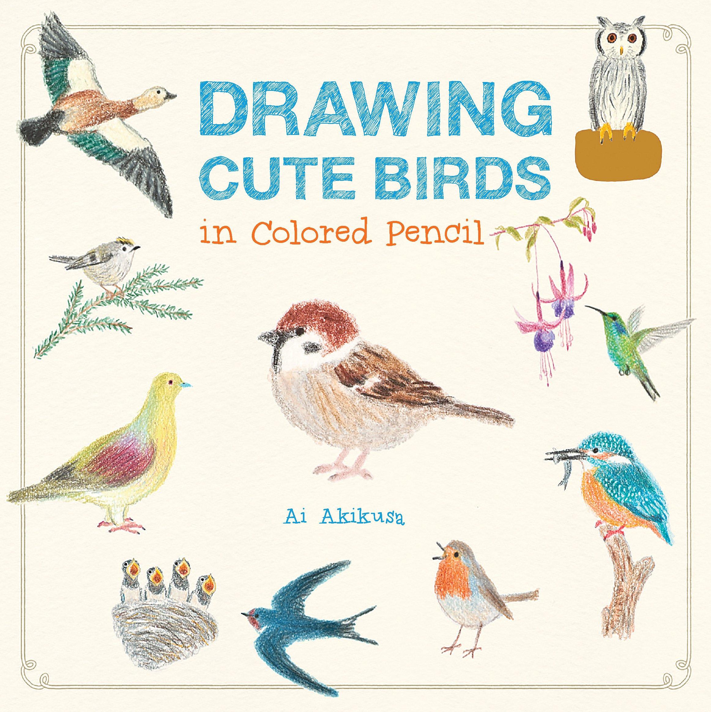 Amazon Com Drawing Cute Birds In Colored Pencil 9781631592652 Ai