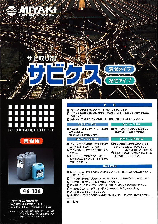 サビ取り剤 サビケス(粘性) 4L B019IEJ4DC
