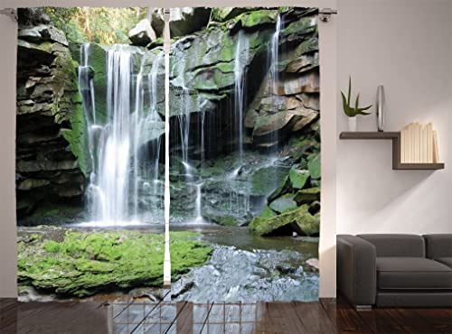 Ambesonne Waterfall Curtains