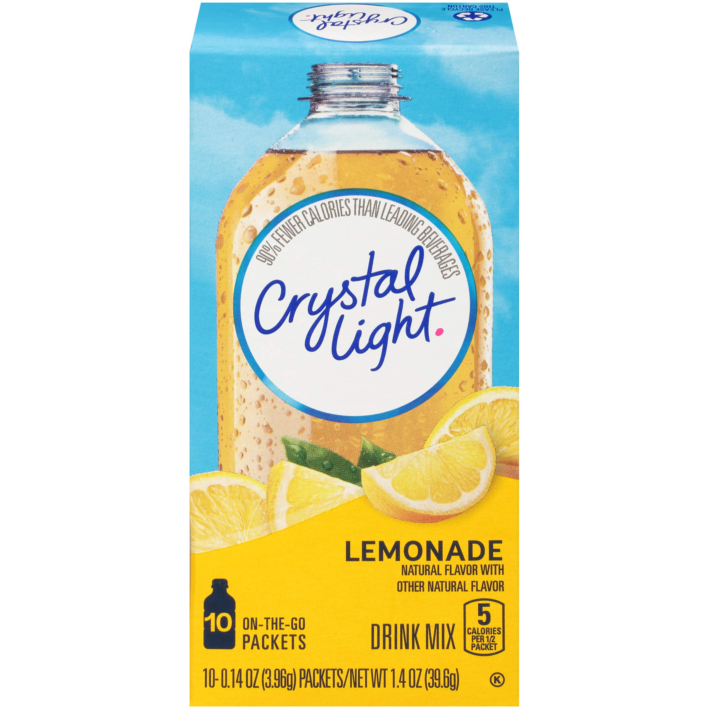 Crystal Light Lemonade Drink Mix (10 On the Go Packets)