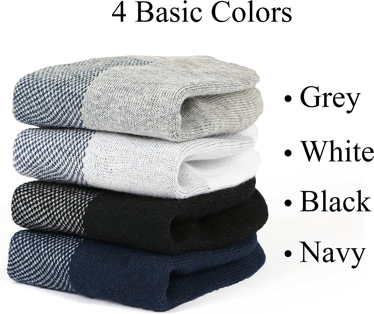 M/&Z Mens Ankle Low Cut Socks Super Comfy Cotton Casual Non-Slip Socks Upgraded 8 Pairs S M L