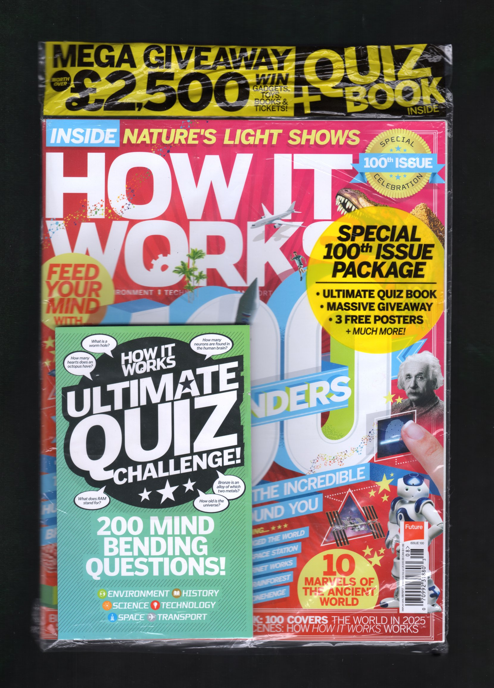How It Works Issue 100 - Special 100th Issue Package with Ultimate Quiz Book, 3 Posters, Massive Giveaway, More. In Publisher's Original Shipping Bag. Science, Tech, Nature, Computer Games pdf