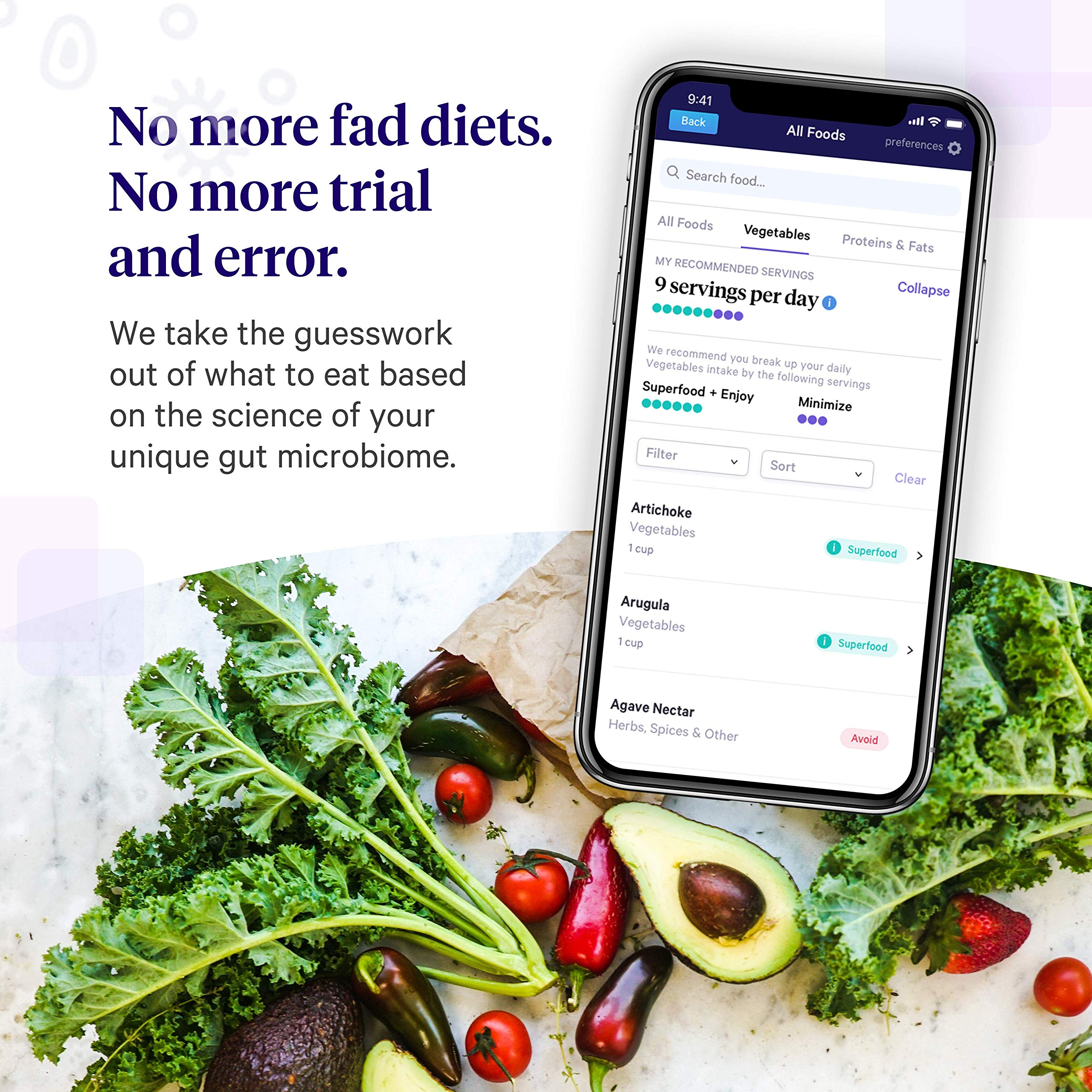 Viome at-Home Gut Microbiome Test   Science Based Personalized Recommendations for Food, Prebiotics & Probiotics   Weight Loss   Improve Digestion   Enhance Sleep   Clear Skin   Boost Mental Focus by Viome (Image #6)
