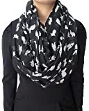 Lina & Lily Cute Rabbit Bunny Print Infinity Scarf Lightweight