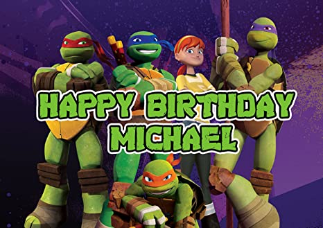 Amazon com: Ninja Turtles Birthday Cake Personalized Cake