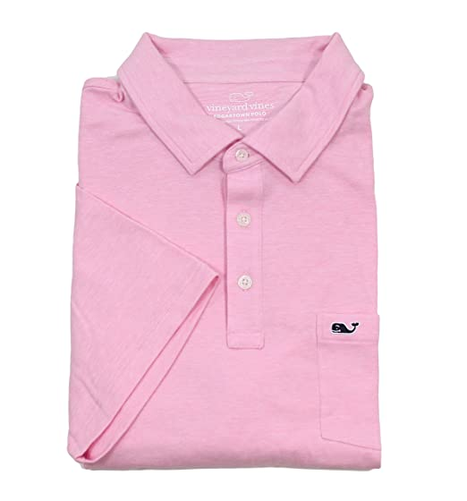 Shirts Vineyard Vines Pink White Striped Short Sleeve Polo Shirt Pocket Mens Sz M Various Styles