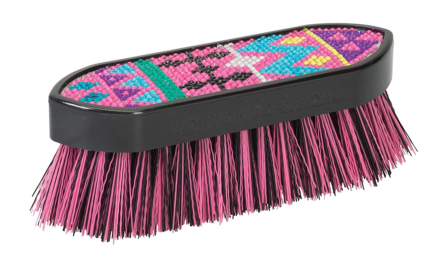Weaver Leather Bling Face Brush, Purple/Pink/Blue