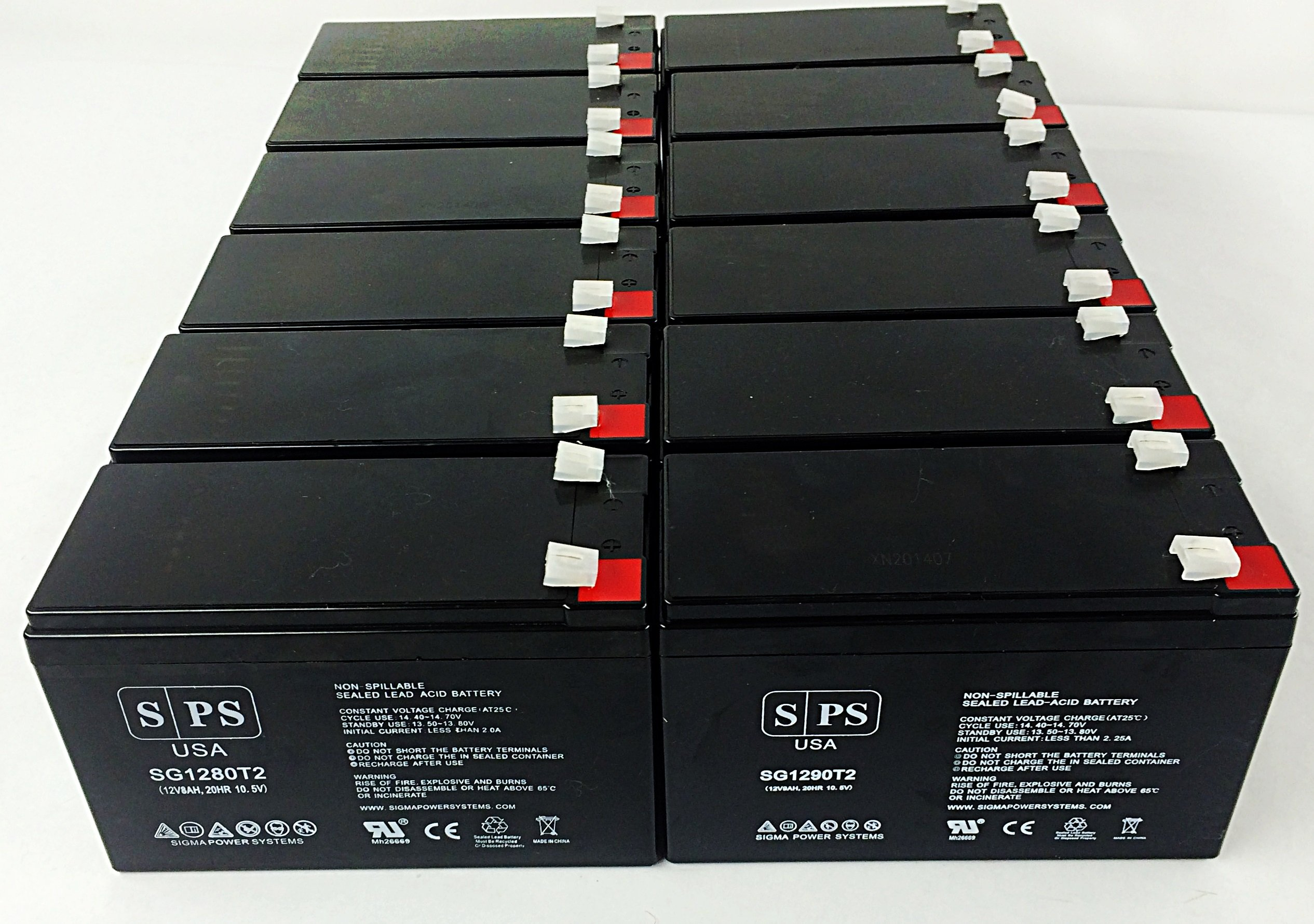 Replacement Battery for APC Professional 12V 8Ah UPS Battery ( 12 pack)