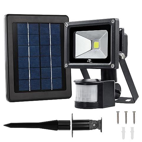 LTE 10W Solar Motion Sensor Light,Solar Security Light Outdoor Solar  Floodlight 60W Halogen Lights