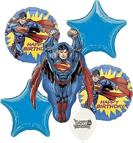 Superman Man of Steel Birthday Banner