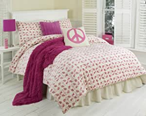 Amazon.com: Thro Ltd. Floral Peace Sign Collection Twin ...