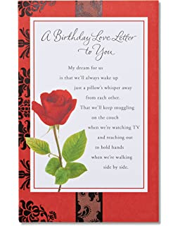 American Greetings Rose Birthday Card
