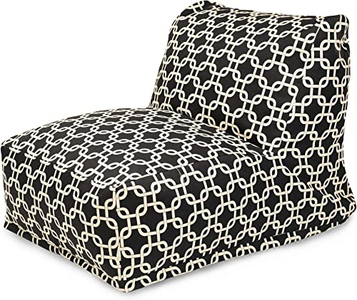 Majestic Home Goods Black Links Machine Washable Bean Bag Chair Lounger