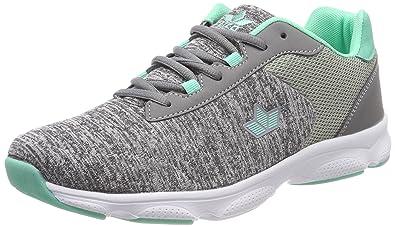 Lico Damen Stretch Sneaker, Grau (Grau/Tuerkis), 39 EU