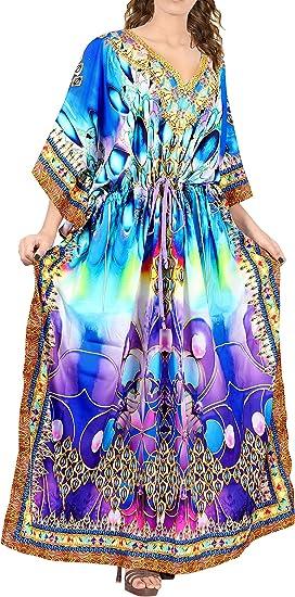 Robe Caftan Robe Robe D/'été Plage Robe Robe Kimono Manches Taille M-XXXL