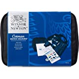Winsor & Newton Cotman Water Colour Paint Travel Bag, Set of 14, Half Pans