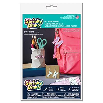 Shrinky Dinks Shrinky Dinks DIY Monograms Project Pack Kids Art and Craft Activity: Toys & Games
