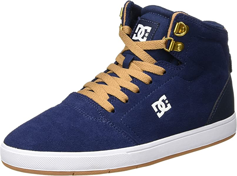 DC Shoes Crisis High Zapatillas Hombre, Azul (Navy/camel), 27.5 EU