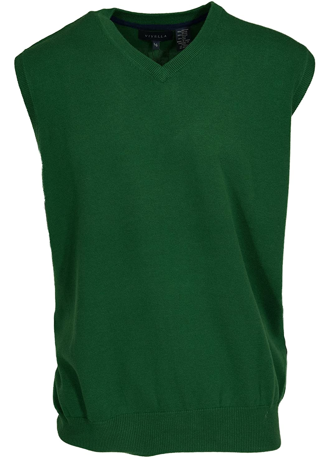 Viyella Kelly Green Sweater Vest (Large) at Amazon Men's Clothing ...