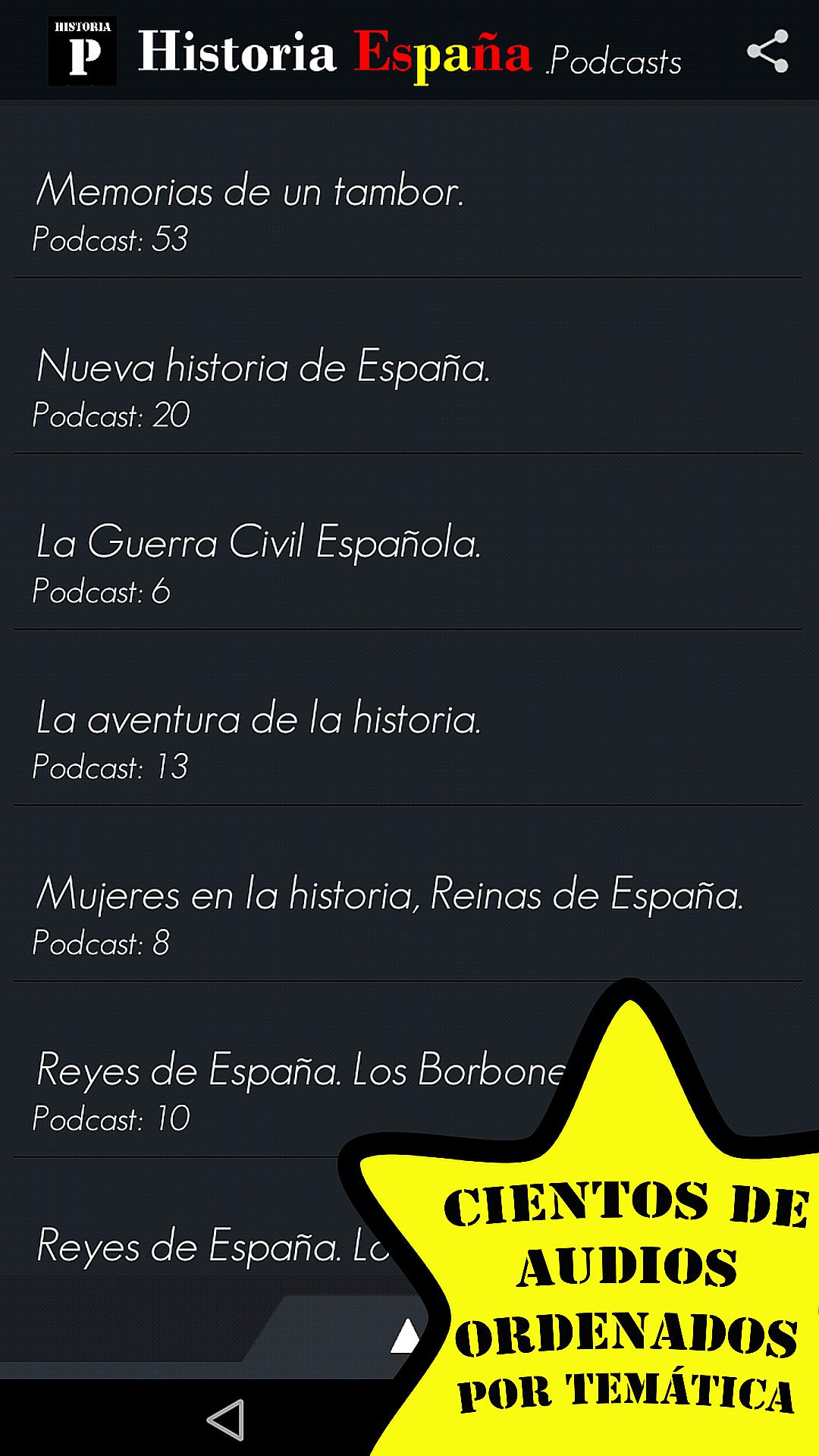 Historia España Podcasts - Sin Publicidad: Amazon.es: Appstore ...