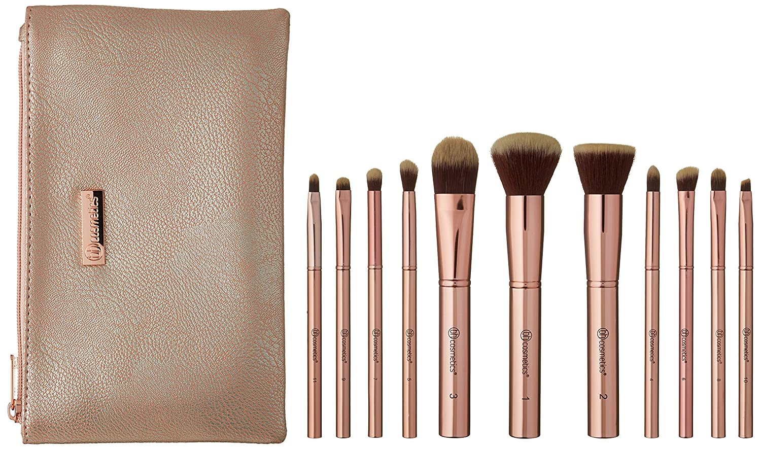 Bh Signature Rose Gold 13 Teiliges Pinselset Bh Cosmetics