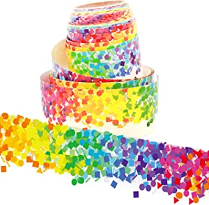 Youngever 52.5 ft Bulletin Board Borders Confetti Border for Classroom Decoration