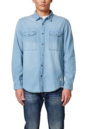 nouveaux styles 82afa 15ac9 edc by Esprit 018cc2f004 Chemise en Jean, Bleu (Blue Light ...