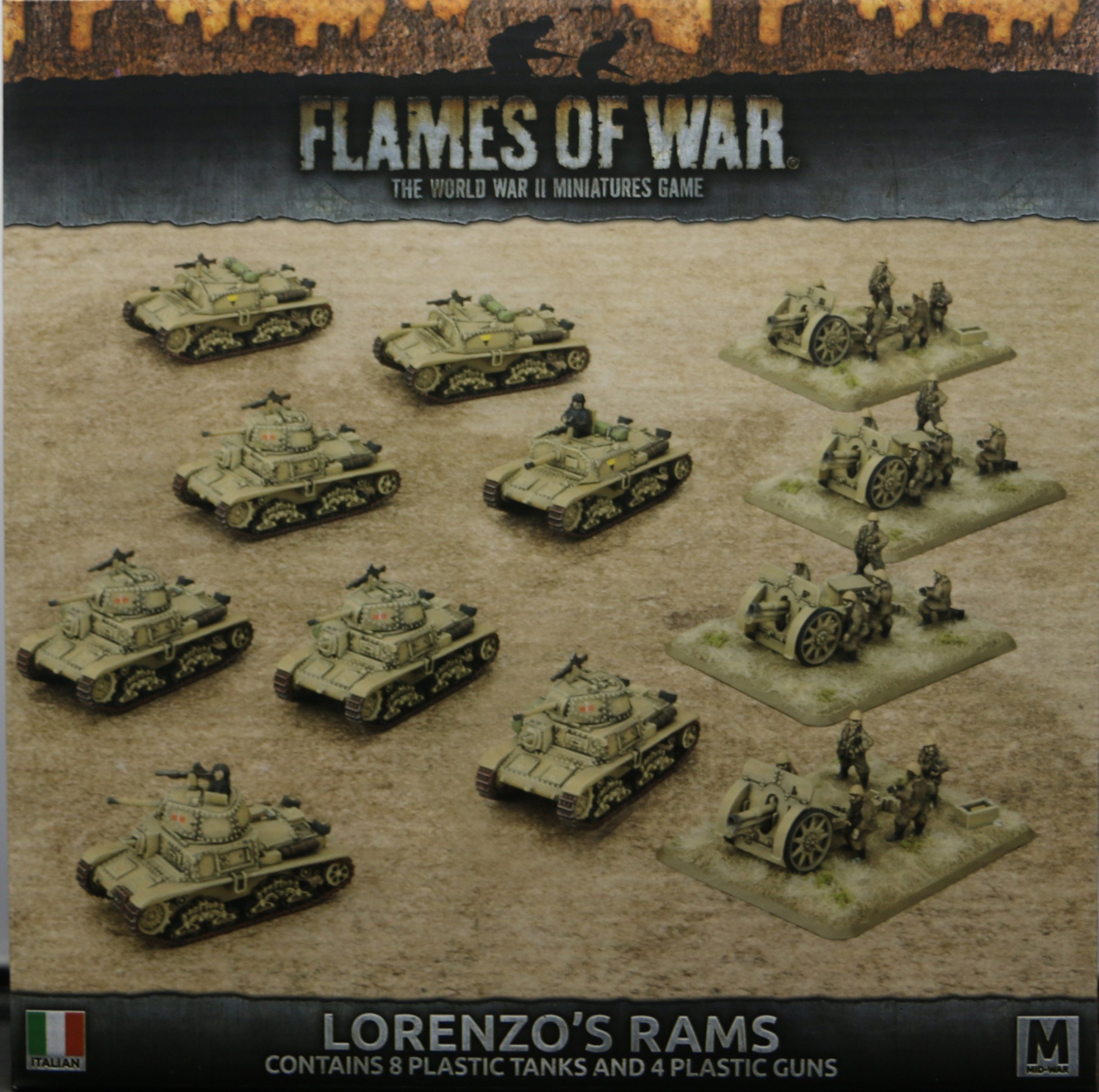 Flames of War: Mid War: Italian: Lorenzo's Rams Army Box