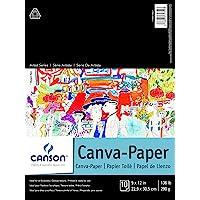 Canson Artist Foundation Series Bloco de papel para pintura a óleo ou acrílica, encadernação superior, 61 kg, 23 x 30 cm…