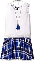 Amy Byer Girls' Big Girls' Sleeveless Vest With Flared Skirt Dress