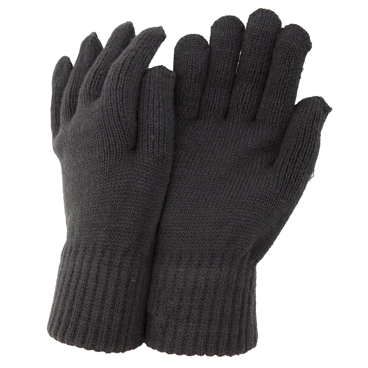 CLEARANCE - Mens Thermal Knitted Winter Gloves (One Size) (Grey) Universal Textiles UTGL348_5