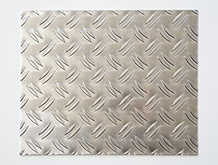 Turbo bestell-dein-Blech Metall Aluminium Riffelblech duett 2,5/4,0 mm CD75