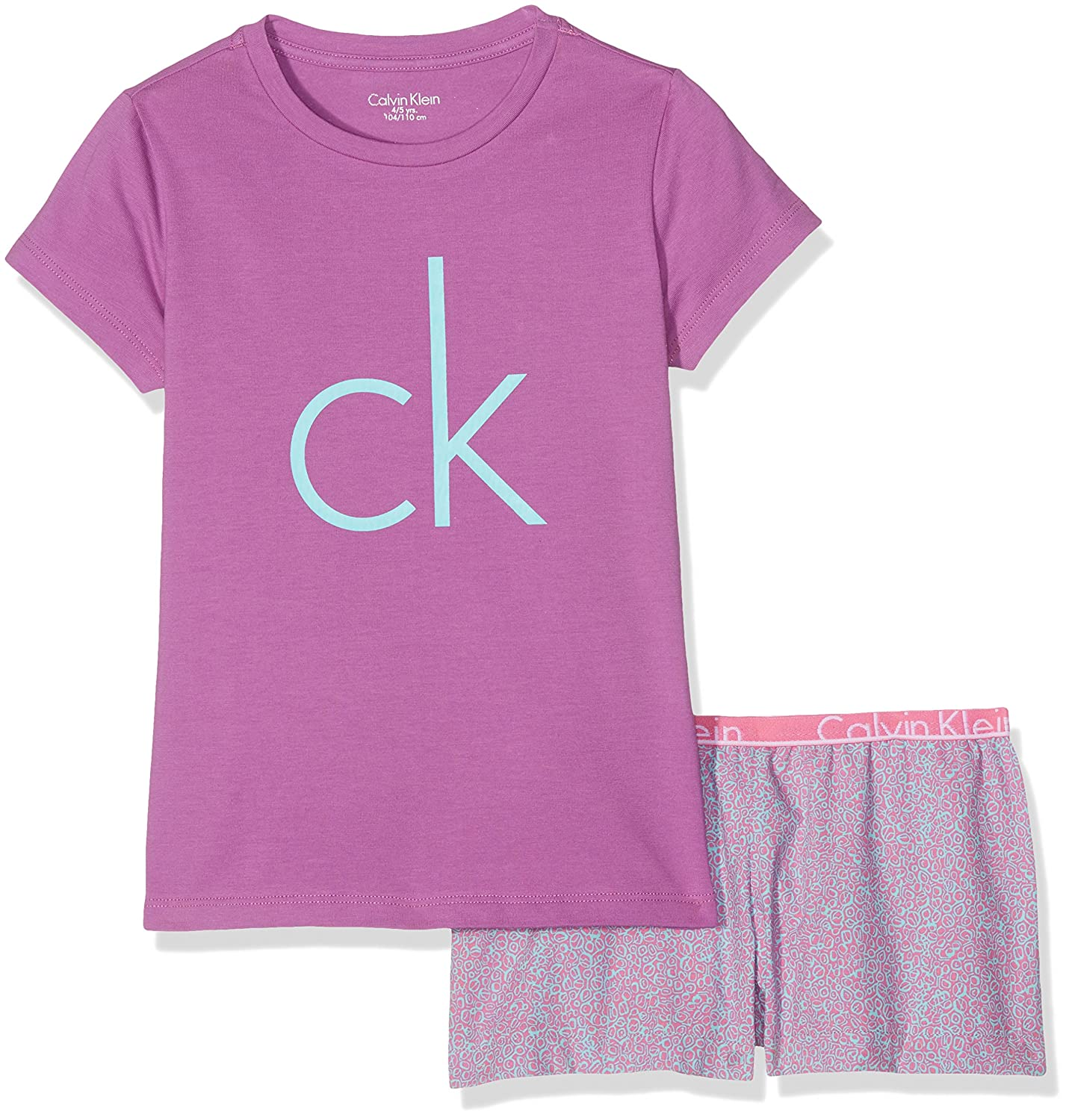 Calvin Klein Girl's Ck Id Woven Pj Set (S/S+Short) Pyjama Bottoms G80G800012