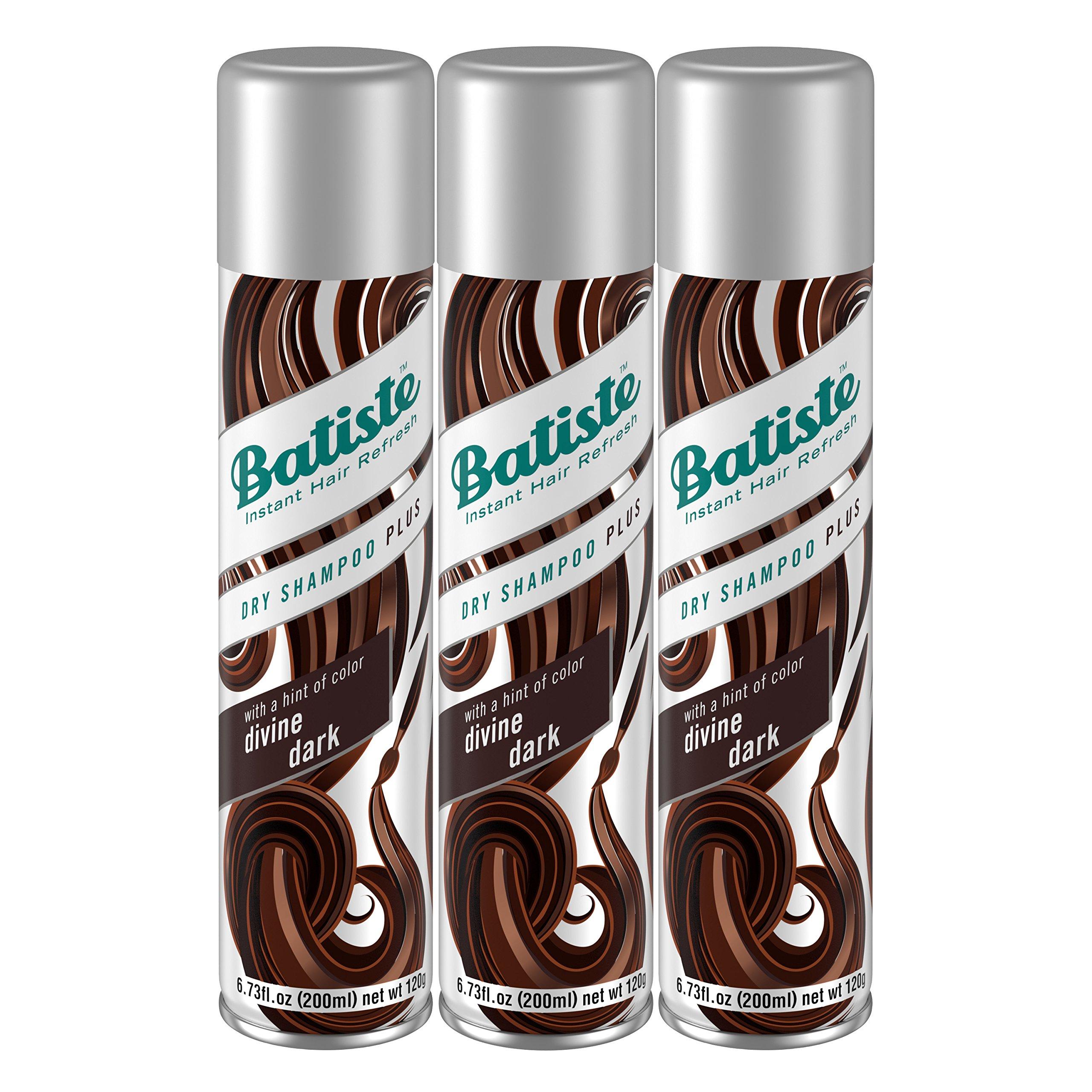 Batiste Dry Shampoo, Divine Dark, 3 Count by Batiste