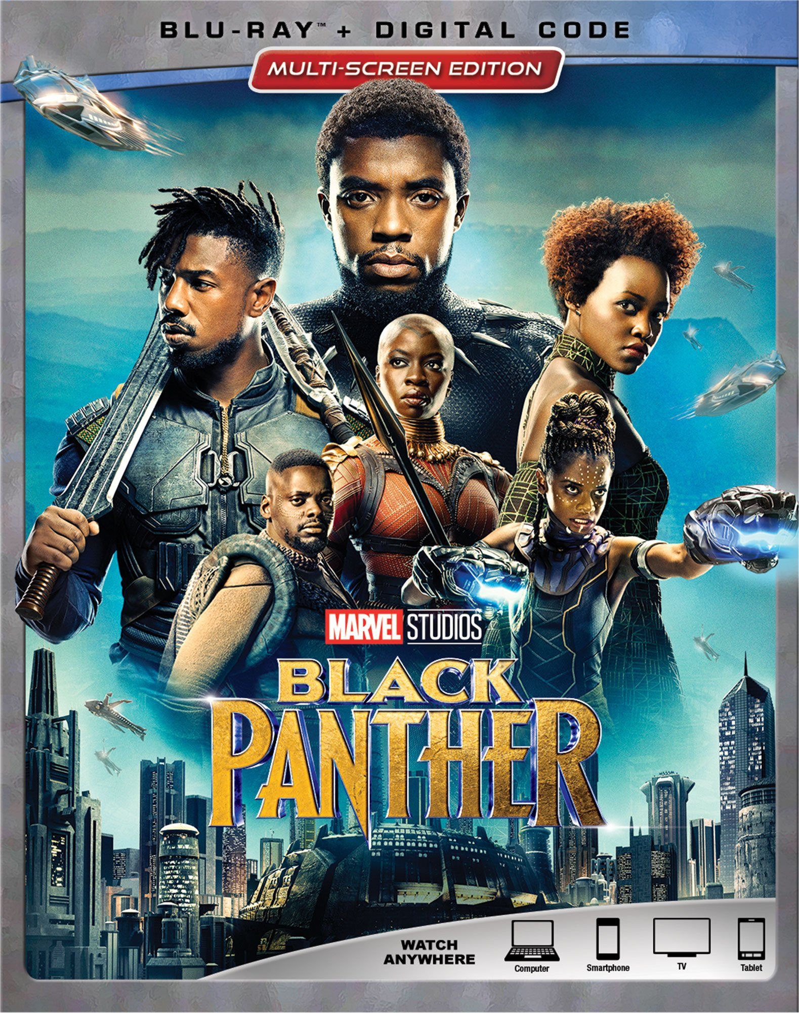 Blu-ray : Black Panther (Digital Theater System, Dolby, AC-3, Dubbed, Subtitled)