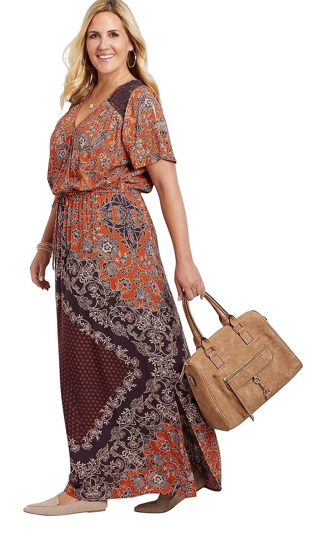 04d244986ff33 Top2  maurices Women s Plus Size Medallion Print Maxi Dress