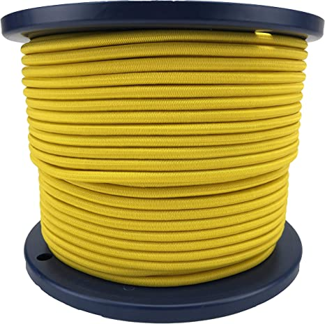 8mm x 5 METERS YELLOW STRONG ELASTIC BUNGEE ROPE SHOCK CORD TIE DOWN FREE POST
