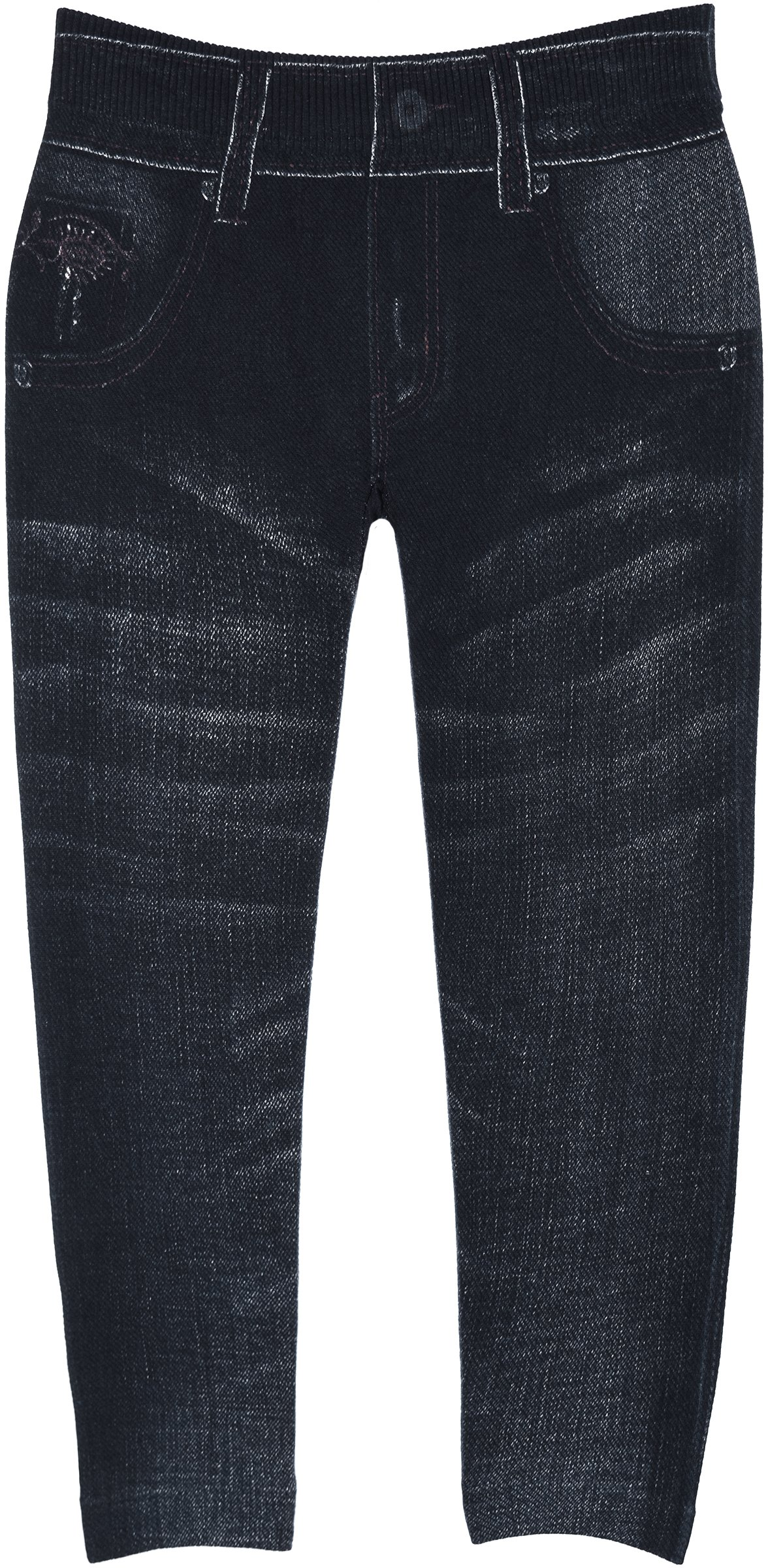 Crush Toddlers Jeggings in 3 Fun Denim Jean Look Patterns in Sizes 2T-4T (2T-4T, 22522 Dark Blue)