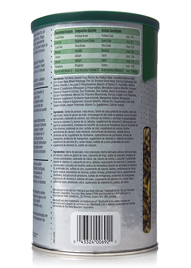 Amazon.com : HARTZ Wardley Premium Amphibian and Reptile Food Sticks - 4.75oz : Dry Pet Food : Pet Supplies