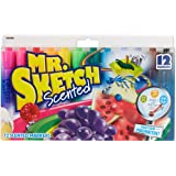 Mr. Sketch Scented Markers, Chisel Tip, Assorted Colors, 12-Count