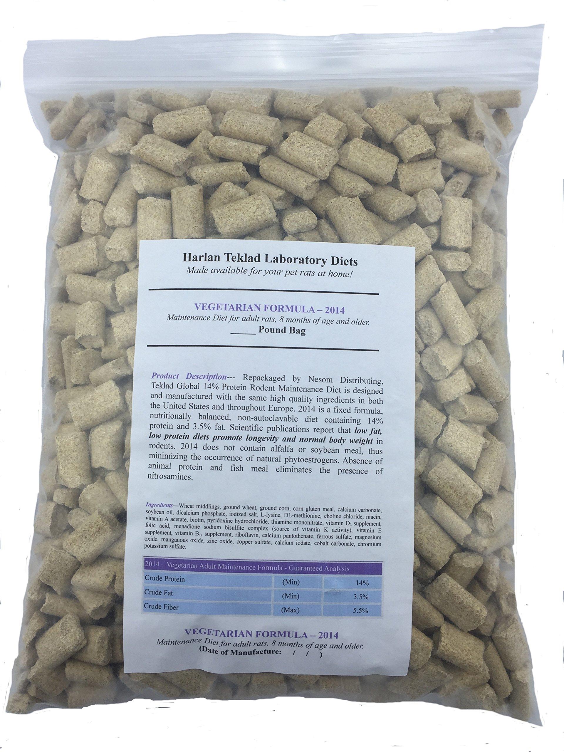 Nesom Distributing Envigo (Formerly Harlan) Teklad Adult Rat Food Diet Global 2014 (10lbs) by Nesom Distributing (Image #2)