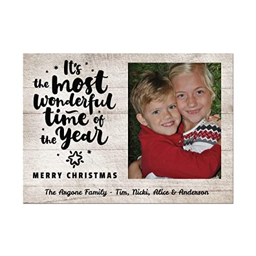 Amazon Com Rustic Photo Christmas Cards Most Wonderful Time Of The
