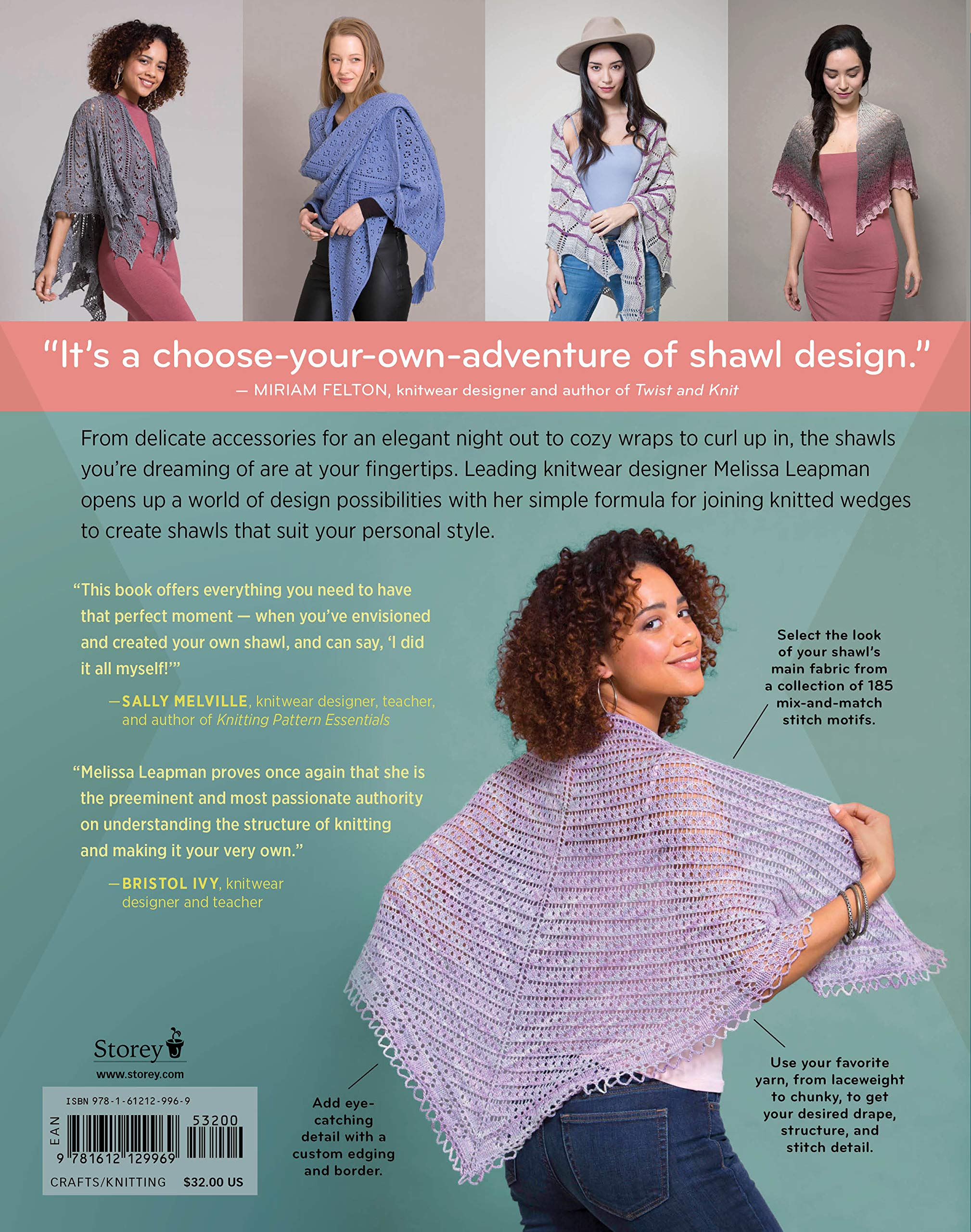 84dfb644361be0 Amazon.com: Knitting Modular Shawls, Wraps, and Stoles: An Easy, Innovative  Technique for Creating Custom Designs, with 185 Stitch Patterns  (9781612129969): ...