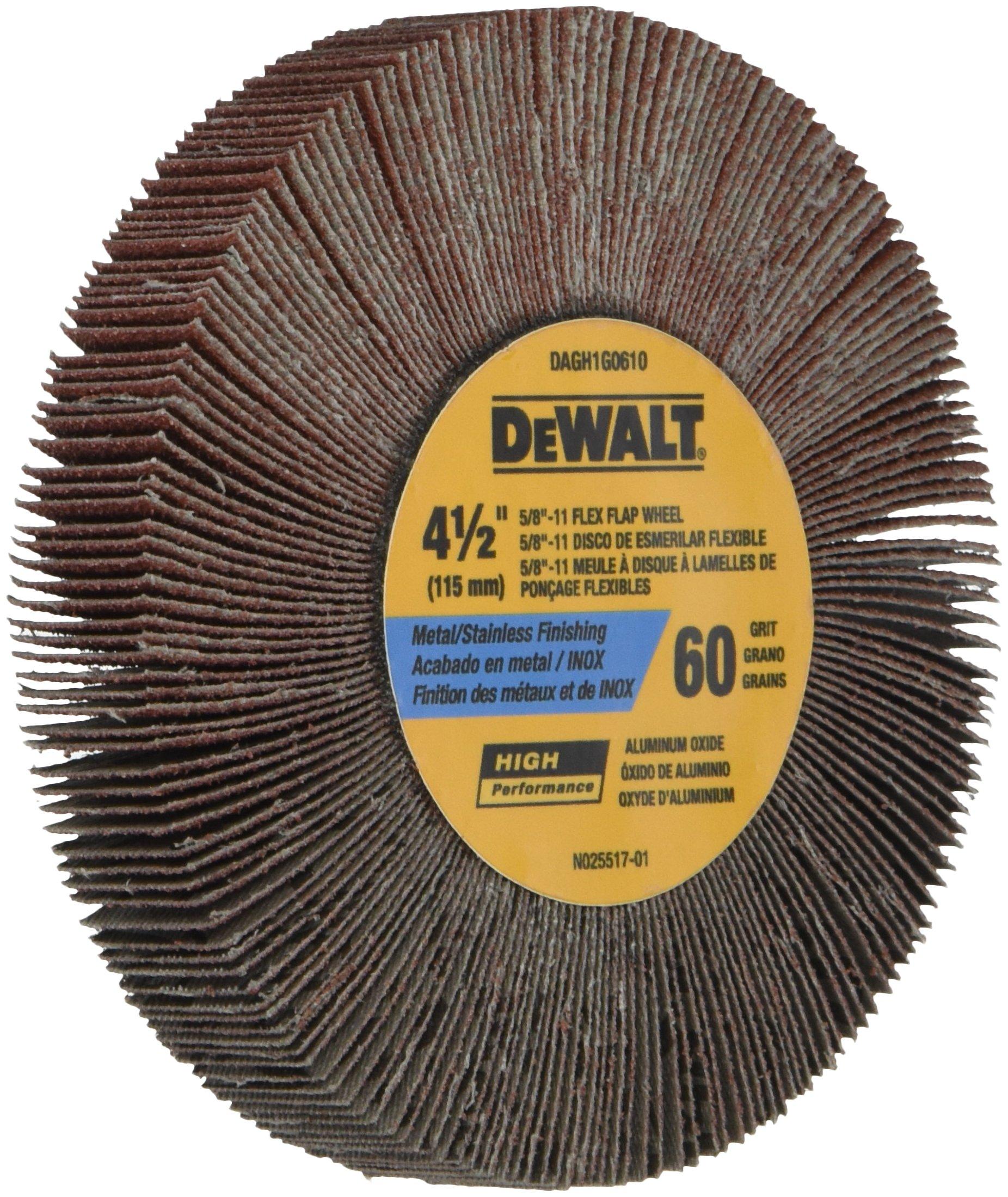 DEWALT DAGH1G0610 4-1/2 by 1-3/26 by 5/8-11 60g Flap Wheel
