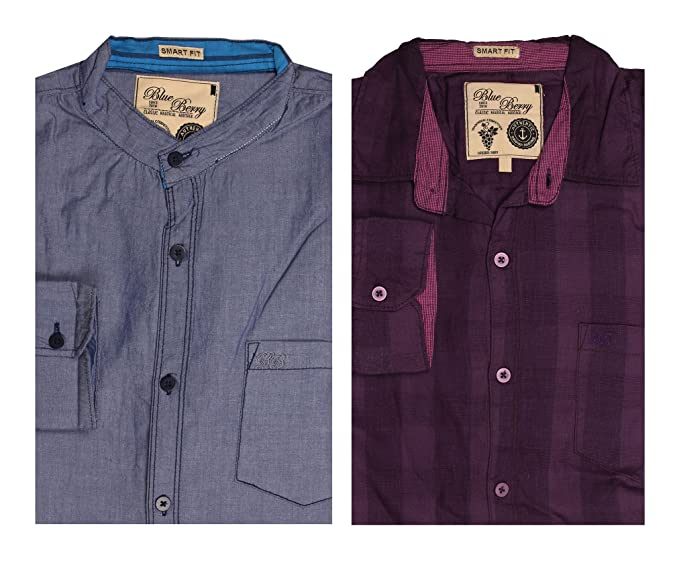 cb3e293e31 Blue Berry Men s Casual Shirts- Pack of 2 (BB-27