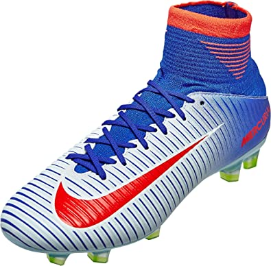 Nike Womens Mercurial Veloce III FG Soccer Cleats - (White/Racer Blue) Size