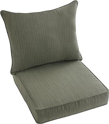 Attirant Mozaic Company Sunbrella 2 Piece Cushion And Pillow Indoor/Outdoor Set Sage