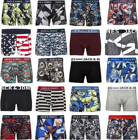 TALLA L. Pack de 4 calzoncillos tipo boxer Jack & Jones, tallas S, M, L, XL, XXL
