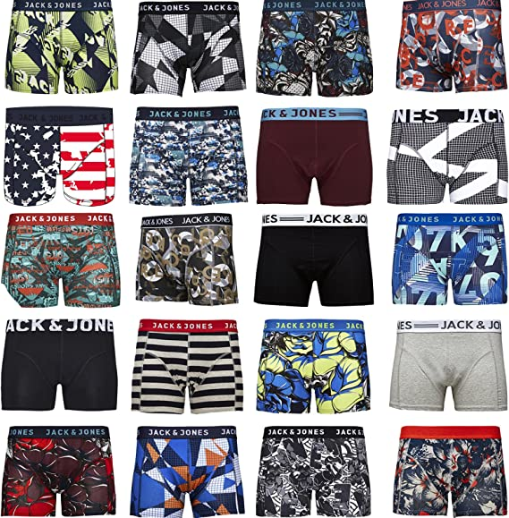 Neu Jack/&Jones Boxershorts 4er Pack MIX Trunks Gr XXL Boxer Short Unterhosen
