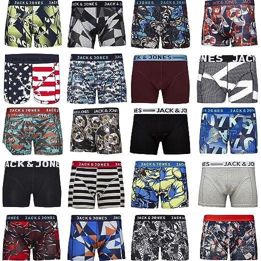 Pack de 4 calzoncillos tipo boxer Jack & Jones, tallas S, M, L, XL, XXL: Amazon.es: Ropa y accesorios